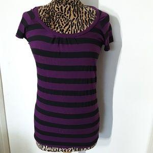 Splendid Striped Short Sleeve Shirt Medium